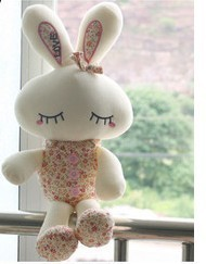 [10 dollar store]Plush Toys,Love child doll super cute bunny rabbit plush doll floral wholesale sales