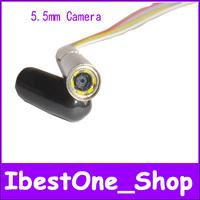 Free shipping!5.5mm,25.5mm length,mini Home Endoscope module,av Borescope,av Tube Snake Scope InspectionCamera,Waterproof,6 LED