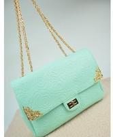 2014 Rose print embossed small chain bag shoulder bag jelly fashion women's handbag bag