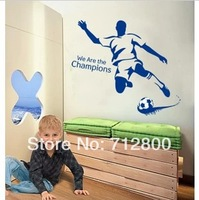 90*80cm Football Boy Removable Wall Stickers For Children Kids Room Decoration Wallpaper 3D Bedroom Decor Shelf Wall Decals