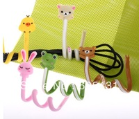 Lot 5 CARTOON COMPUTER CABLE WINDER WIREs HOLDER Lovely Cable arrangement  100% Brand new