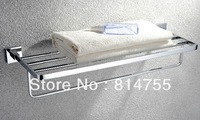 "Free Shipping (24"",60cm) bath towel rack/towel lever/towel shelf,Solid brass made,Chrome finish,Bathroom Hardware"