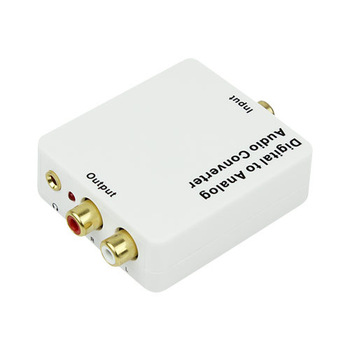Digital to Analog Audio Converter Adapter Coaxial SPDIF/Toslink Signal to RCA L/R D2254B eshow