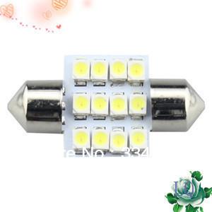 EMS Free Shipping 120pcs 31mm Festoon Dome 12 SMD LED Car Interior Bulb Light Lamp White 12v