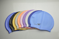 Solid Color Swimming Cap Silicone Swim Hats Water-proof 100% Brand New Adult 9 Colors Caps Men Women Children Free shipping 2PC