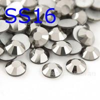 SS16 hematite non hotfix rhinestones SS16(3.8--4.0mm) 1440pcs/lot fashion accessories