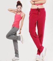 CHEAP new 2014 straight korean style fashion fitness cotton large size yoga sports pants overalls for women P920