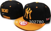 Free p&p Ymcmb back & orane one size button baseball cap casual  hip-hop cap ny flat along the cap hiphop cap ny female hat