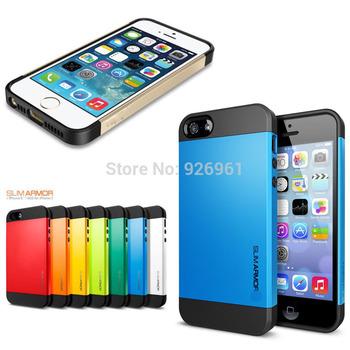 10 Colors High Quality SGP SPIGEN SGP Slim Armor Color Case Cover for the iPhone 5 5G 5S Free Shipping Wholesale 10pcs/lot