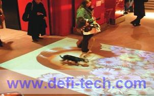 Magic interactive floor advertising system,for interactive advertising, projection show Free Shipping