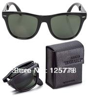 Designer Star style 4105 Folding sun glasses Wayfarer Large polarized sunglasses men women fashion vintage Free postage Tracking