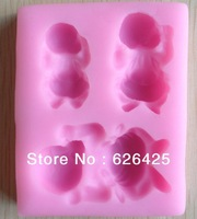 Free shipping 1Pcs baby shape Chocolate Candy Jello 3D silicone Mold Mould cake tools Bakeware Pastry bar Soap Mold