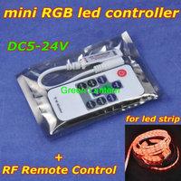 mini RGB controller with RF remote control