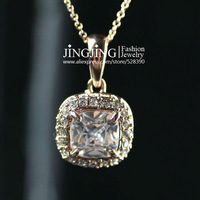 N015 Classic Crystal Necklaces 18K Gold Plated Fashion Pendant Jewelry Made with Austria Crystal SWA Elements Wholesale