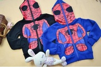 Free shipping-spring autumn Hot selling boys jacket, boy's Spider man coats.2 colors.