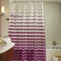 Clean bathroom pvc shower curtain waterproof thickening copper gas hole customize