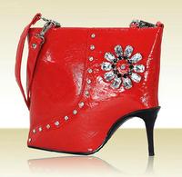 Amliya Classic Women's High-heeled Shoes Shaped Handbag Fashion Shoulder Bag Messenger Bags