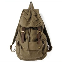 HOT Sale New Fashion Men's Canvas Bag Travel Backpack  Military Style Backpack,Handbag school bag,Free Shipping