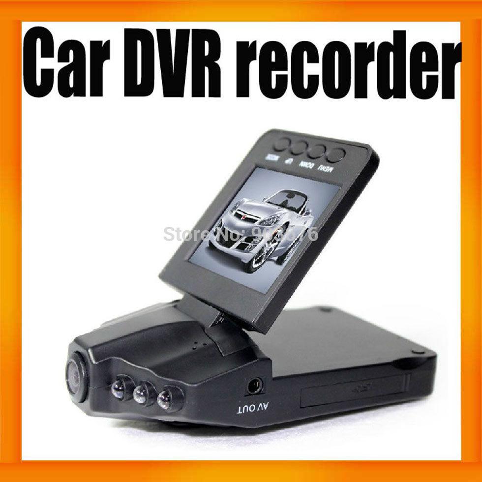 Car DVR Camera 6IR LED Night Vision 120degree wide angle view 170 degree screen rotating Best Car Dash Camera h198 20pcs/lot(Hong Kong)