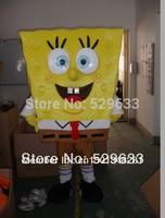 High quality of Spongebob Mascot Costume Sponge Bob Mascot Costume, Free Shipping