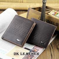 2014 new fashion casual men's fashion trends two fold wallets snake skin wallet crocodile pattern purse free shipping
