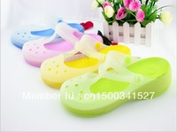 free shipping  sandals female flat heel slippers