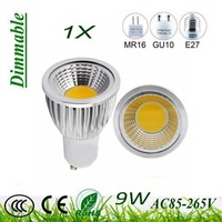 Free expedited shipping 5X Dimmable gu10  / E27  / GU5.3  / E14  /  B22 / MR16 9W 12W COB AC85-265V  High Power Led Light Bulbs