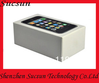 Free shipping box with sim pin and manual for iphone 3gs packing boxes