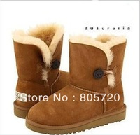 5991   5281 2013 Child winter girls boots leather cotton-padded shoes waterproof  shoes hihg child snow boots free shipping