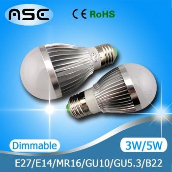 E14 GU10 LED Bulb Light Lamp Spotlight Dimmable / Non-dimmable 3W 4W 9W 10W 12W 15W 1pcs/Lot