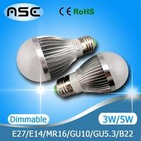 E27 LED Bulb Light Lamp Spotlight Dimmable / Non-dimmable 3W 4W 9W 10W 12W 15W 1pcs/Lot