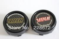 Free Shipping 66MM RAYS  Emblem Wheel Center Cap Hub Cap VOLK Sticker Wheel Covers(Black Carbon Grain)