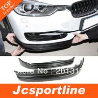 Top Quality 1 Pair Car Splitter Real Carbon Fiber Car Front Splitter for BMw F30 Front Bumper Spliter fits: Standard F30 bumper