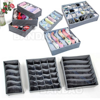 3 pieces/set,foldable Organizer box /Bamboo Charcoal fibre Storage Box 3 in 1 for bra,underwear,necktie,socks ties free shipping