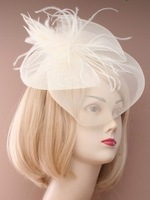 FREE SHIPPING!2013 New Arrival  bridal  fascinator hat with rose/feather or looped fabric designs for church/party/races .