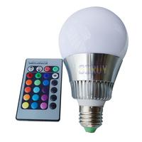 10W E27 IR Remote Control RGB LED Bulb 16 Colors Magic Changing Color RGB Light Lamp Bulb 85V~265V