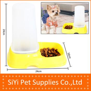 Free shipping dog feeding tool Cat dog feeder automatic dog food bowl cat bowl pet bowl feed dog feeder pet supplies