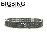 BigBing Fashion jewelry full bling rhinestone elastic line bracelet   Free shipping H1223