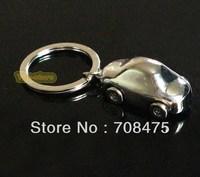 Cute Mini Metal Car key chain High-Class keychain with 4 wheeling tires Free Shipping