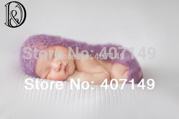 Model# DJ-13007,Whole sale(one set with 15 colors),baby shower,crochet newborn wraps,mohair,baby photography props,baby props
