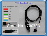 FT232 Brush line download cable FT232 USB to TTL to TTL download cable Brush line with CTS RTS