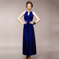 2013 New Arrival Women Long Evening Dress Chiffon Sleeveless Elegant Style 3 Colors Dresses Free Shipping Wholesale & Retail