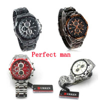 Free shipping NEW Free shipping perfect Men's Curren 8023 Luxury Sport Stainless Steel Wrist Watch
