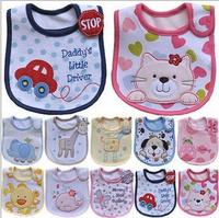 Cotton Baby bib Infant saliva towels carter's Baby Waterproof bib Carter Baby wear 12pcs/lot free shipping