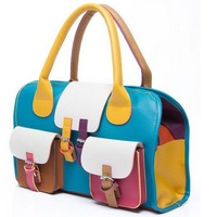 Messenger bag handbag tide female bag Europe retro mixed colors hit the color package-SYBK0005