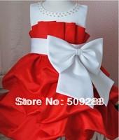 NEW Arrival 2014 children dress girls party High-grade Princess dress chiffon Big bowknot dresse for summer 90-120 yards
