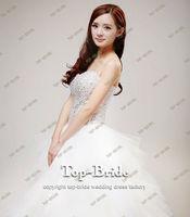 Free Shipping S1316 Real Luxury Sequins Beaded Crystal Sash Wedding Dress+100%Chiffon