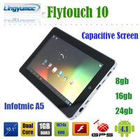 2013 new Flytouch 10 10 inch infotmic A5 dual core capacitive touch screen GPS android 4.1 tablet pc