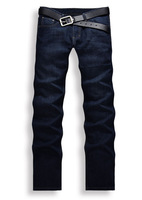 [Big Man] Free Shiping 2013 new dark blue denim jeans trousers new men's fashion casual jeans thick/Size 28-38 /Color Blue