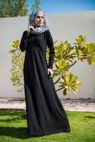 Weishion WS004 Black color EVERY DAY wear women black Dubai style abaya